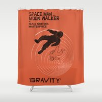 gravity Shower Curtains featuring GRAVITY by Resistance