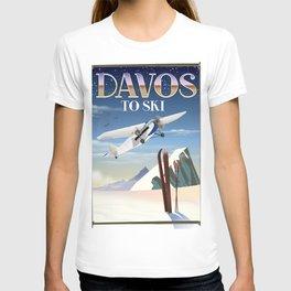 Davos ski poster T-shirt