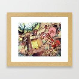 Teen Shelter Girl Framed Art Print