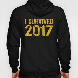 I Survived 2017 Funny Happy New Years Eve Ball Hoody