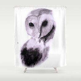 Owl Watercolor Painting 2 Shower Curtain