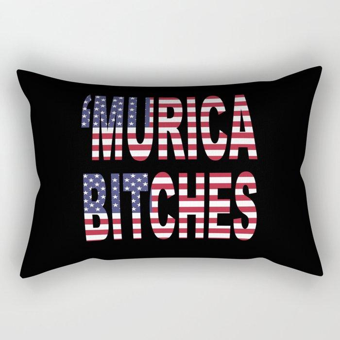 'Murica Bitches Rectangular Pillow