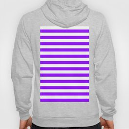 Narrow Horizontal Stripes - White and Violet Hoody
