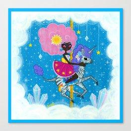 Sunshine and Sparkles -Crystal Cloud Carousel Canvas Print