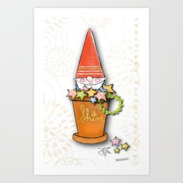 Merry Christmas Gnomey Art Print
