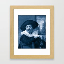 "Frans Hals ""Portrait of Isaac Abrahamsz"" edited Framed Art Print"