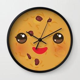 Kawaii Chocolate chip cookie Wall Clock