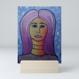 Pinky Hair Mini Art Print