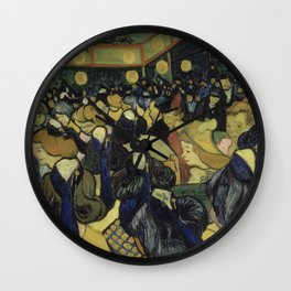 The Dance Hall in Arles by Vincent Van Gogh Wall Clock