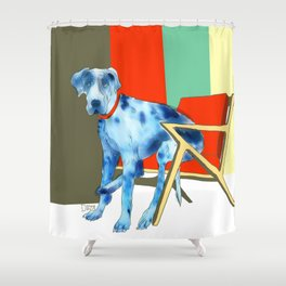 Great Dane in Chair #1 Shower Curtain