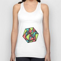 hexagon Tank Tops featuring Hexagon by chrfahnestock