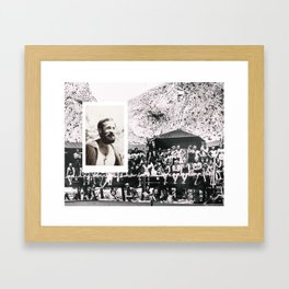Hipsters from 1970. Framed Art Print