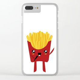 FRENCH FRIES SUPERSTAR SINGER Clear iPhone Case