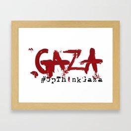 #OpThinkGaza Framed Art Print