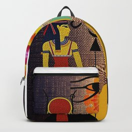 Hathor under the eyes of Ra -Egyptian Gods and Goddesses Backpack