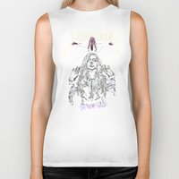 lindsay lohan Biker Tanks featuring Lohan eezus vibe by Tiaguh