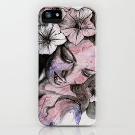 In The Year Of Our Lord (smiling flower lady portrait) iPhone Case