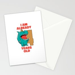 I am already 4 Kids Baby Dinosaur Stationery Cards