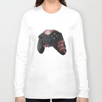 xbox Long Sleeve T-shirts featuring Zombie Xbox One Controller by Peyeyo