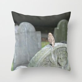 Sparrow in King's Chapel Burying Ground Boston Throw Pillow
