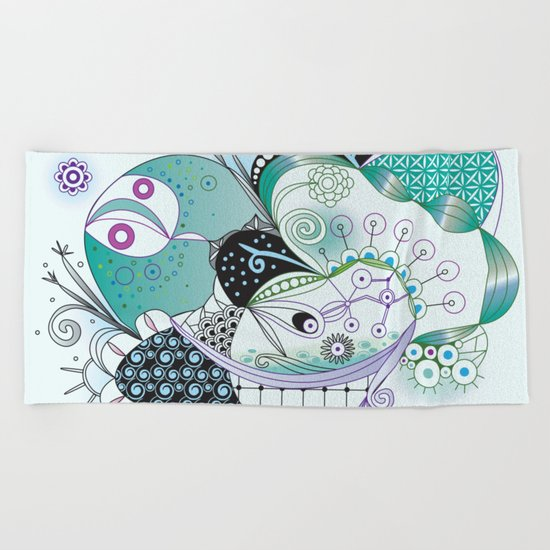 Winter tangle Beach Towel