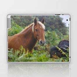 Wild Palomino Flaxen-maned New Forest Horse Laptop & iPad Skin