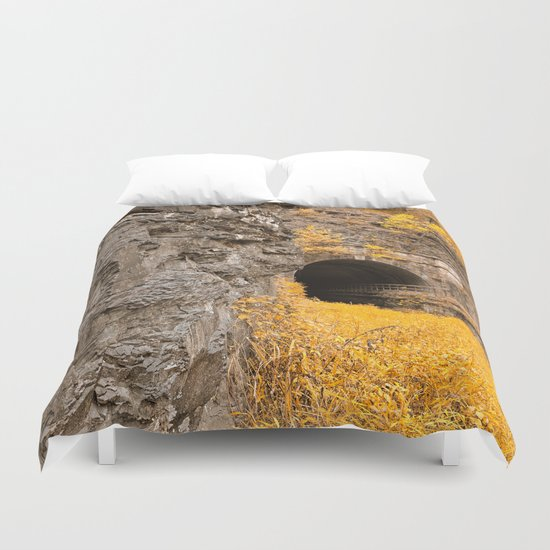 Paw Paw Tunnel - Golden Age Nostalgia Duvet Cover