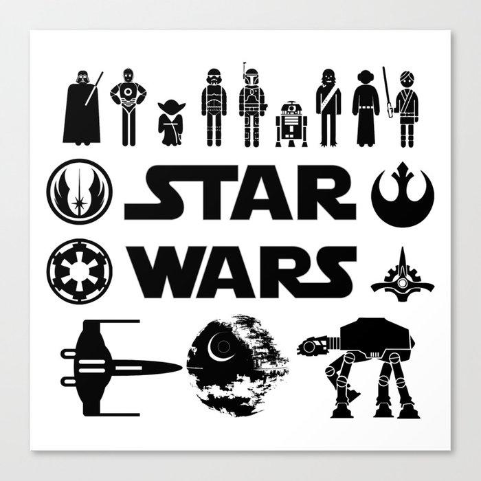 Star Characters Wars Canvas Print