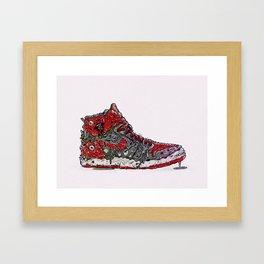 Infected Jordans Framed Art Print