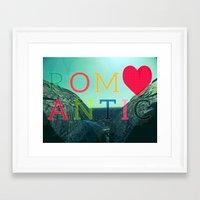 romantic Framed Art Prints featuring ROMANTIC by famenxt