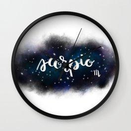 Scorpio - Astrology/Zodiac Sign Wall Clock