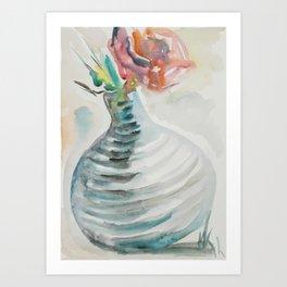 Vase with Rose Art Print