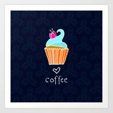 Love Coffee Art Print