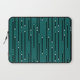 Dotted Lines in Teals Laptop Sleeve