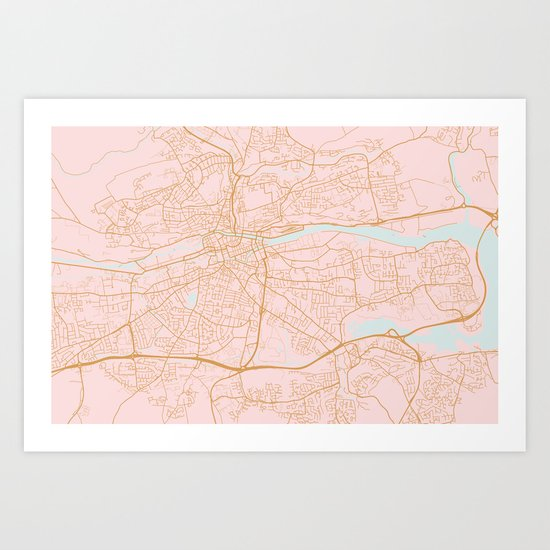 Pink Cork map, Irealnd by annago
