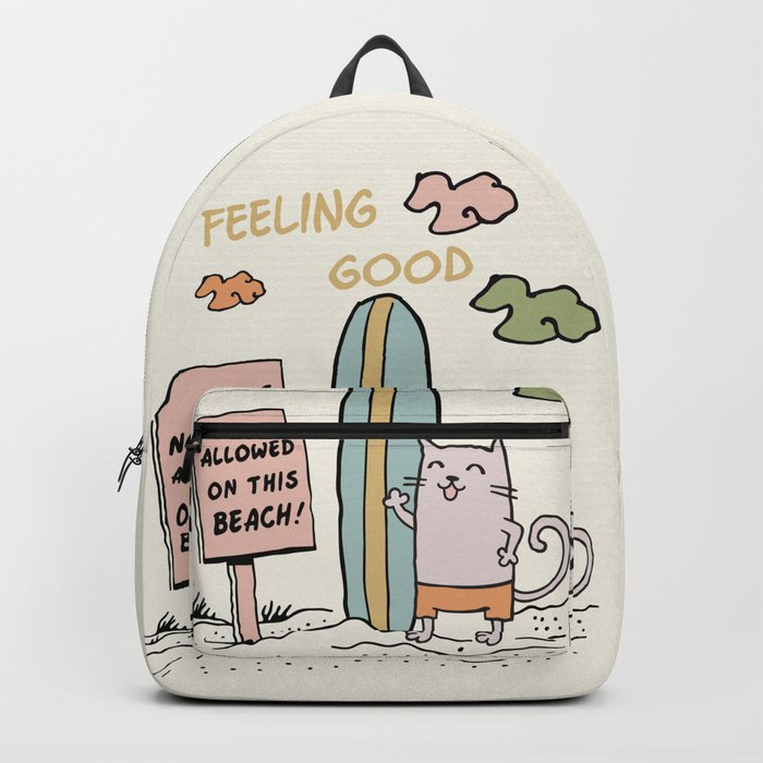 Cat on the beach Backpack