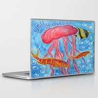 jelly fish Laptop & iPad Skins featuring Jelly Fish by Julie M Studios