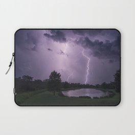 Storm Warning Lightning Strike Laptop Sleeve