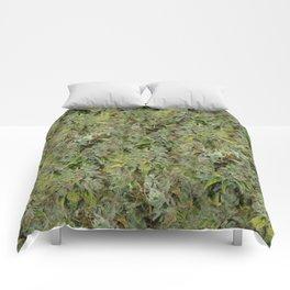 cannabis bud, marijuana macro Comforters