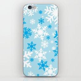 Blue Snowflakes iPhone Skin