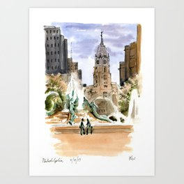 The View from Logan Circle Art Print