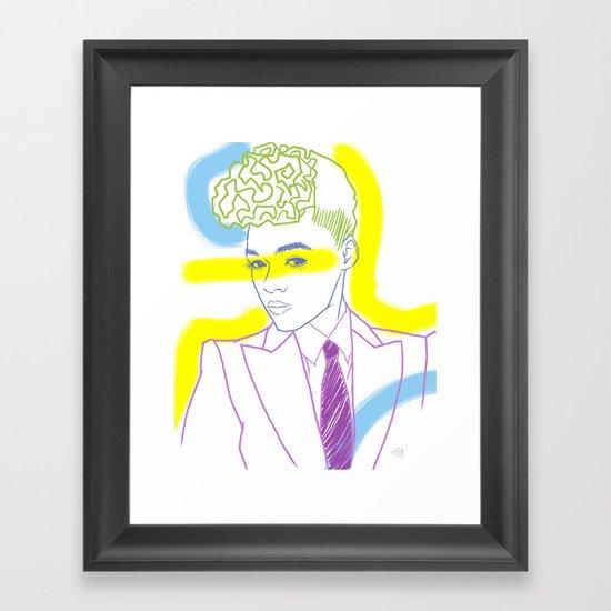 """The Electric Lady"" by Tim Lukowiak Framed Art Print"