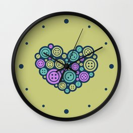 Heart of a Tailor Wall Clock