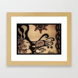 Prehispanic coffee Framed Art Print