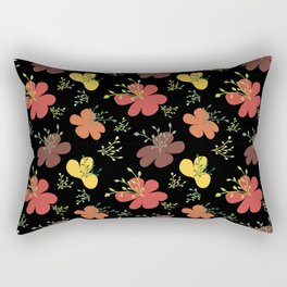 flor fondo negro1 Rectangular Pillow