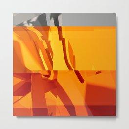Abstract Glitch 02 Metal Print