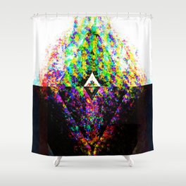 Split Chaotic Shower Curtain