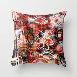 Going rouge Throw Pillow