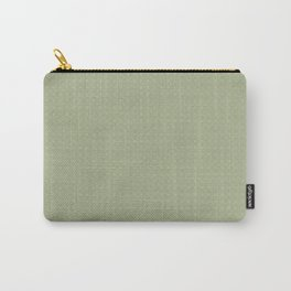 Earthy Green on Sweet Pea Green Parable to 2020 Color of the Year Back to Nature Polka Dot Grid Carry-All Pouch