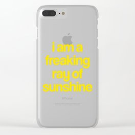 i am a freaking ray of sunshine (Sparkle Pattern) Clear iPhone Case